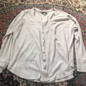 Abercrombie cream button up long sleeve